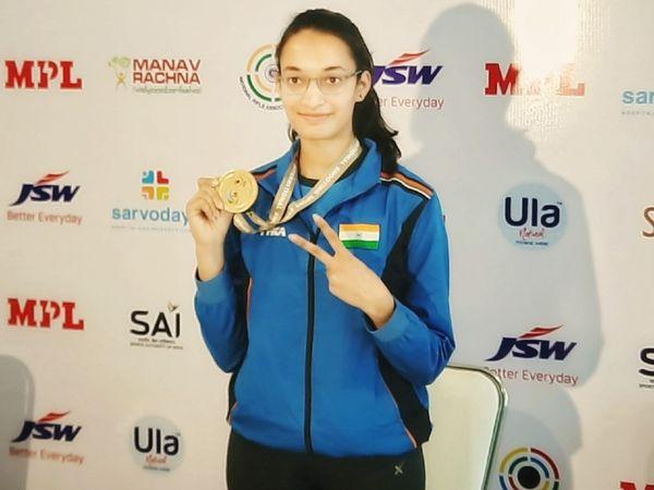चिंकी यादव ने पिछले साल दिल्ली में हुए शूटिंग वर्ल्ड कप में गोल्ड ही जीता था। वे ओलिंपिक कोटा भी हासिल कर चुकीं। - Dainik Bhaskar