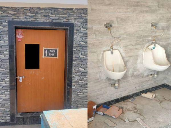 टॉयलेट को आधुनिक तरीके से बनाया गया है।