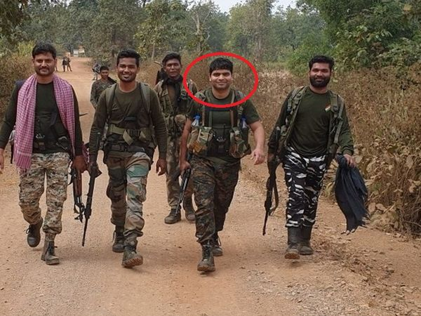 There was a risk of firing and blast anywhere during the search, but Deepak was seen smiling with his companions.