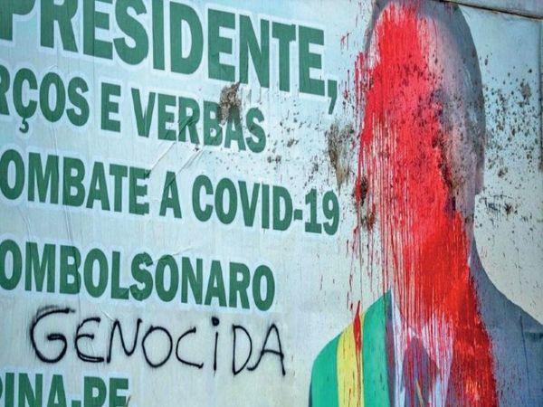सबसे संक्रमित ब्राजील समेत 7 देशों में जहां कोरोना का प्रसार रोकने में कमजोर कदम उठाए, वहां विरोध के चलते सरकारें डांवाडोल रही हैं। ब्राजील में अब तक 4 स्वास्थ्य मंत्री बदले जा चुके हैं। - Dainik Bhaskar