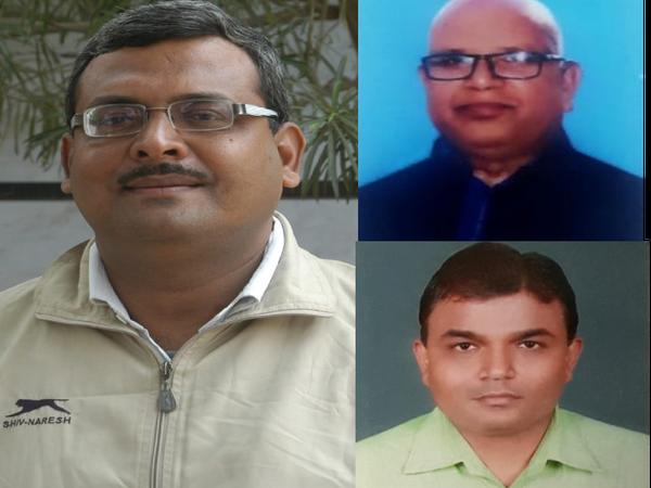 शिक्षक अभिषेक, डॉ आजाद चंद्रशेखर प्रसाद चौरसिया, संजीव कुमार। - Dainik Bhaskar