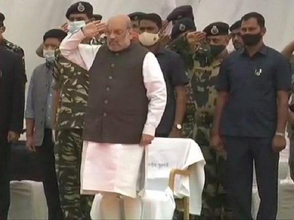 गृह मंत्री शाह ने शहीद हुए जवानों को जगदलपुर में श्रद्धांजलि दी।