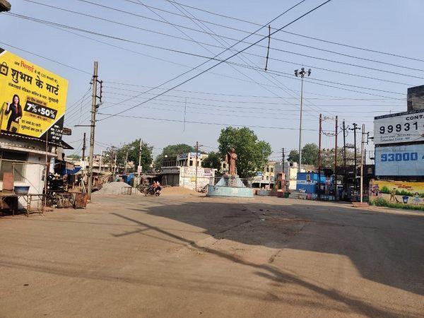 दुर्ग शहर का सबसे व्यस्ततम इंदिरा मार्केट में सन्नाटा पसरा रहा।