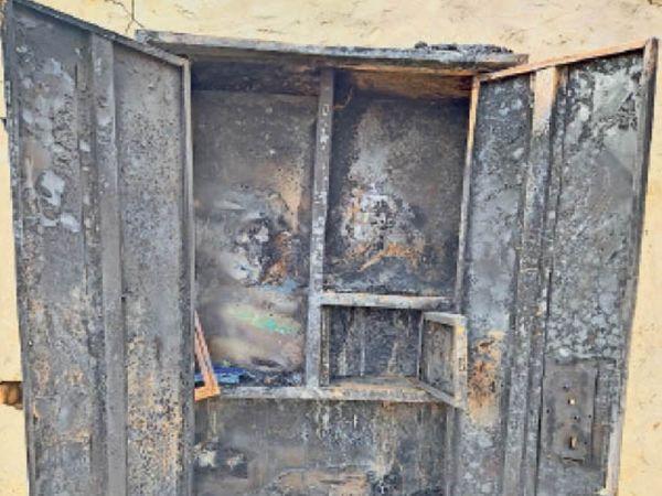 चारणवास में आग लगने से घरेलू सामान व 8 हजार नकद जल गए - Dainik Bhaskar