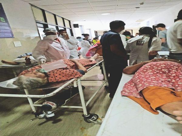 सिविल के कोविड अस्पताल में भी हालात बेकाबू हो रहे हैं। यहां स्टाफ की कमी का सामना करना पड़ रहा है। - Dainik Bhaskar