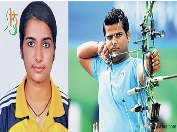 रजत एशियन गेम्स और वर्ल्ड चैंपियनशिप में और स्वाति वर्ल्ड यूनिवर्सिटी तीरंदाजी में पदक जीत चुकी हैं। - Dainik Bhaskar