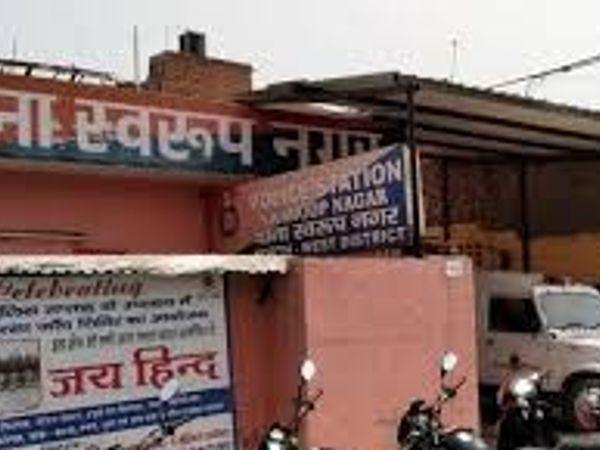 पुलिस ने वारदात के आसपास लगे CCTV कैमरों की फुटेज को भी कब्जे में लिया है। - Dainik Bhaskar