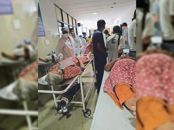 अस्पताल फुल, मरीजों को नहीं मिल रही जगह