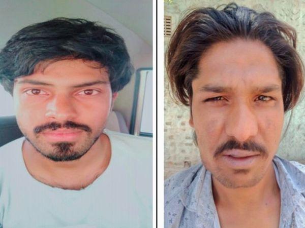 जयपुर में नशा तस्करी के खिलाफ हुई जयपुर पुलिस की कार्रवाई में गिरफ्तार अमन कुमार पटवा और शहजाद। - Dainik Bhaskar