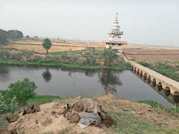 पिहोवा | बीबीपुर लेक के अंदर सरस्वती नदी के किनारे पर महाभारत कालीन तिगरी मोचन तीर्थ। - Dainik Bhaskar
