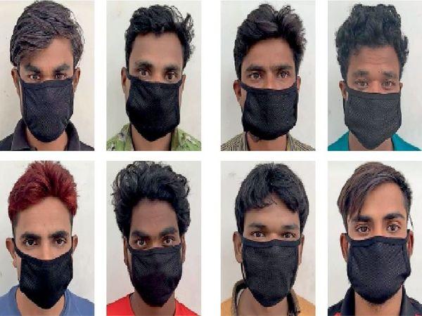 सवा 2 करोड़ की तारें चोरी कर तांबा दिल्ली के कबाड़ी को बेचने वाले गिरोह के 8 आरोपियों को सीआईए-1 टीम ने गिरफ्तार कर लिया। - Dainik Bhaskar