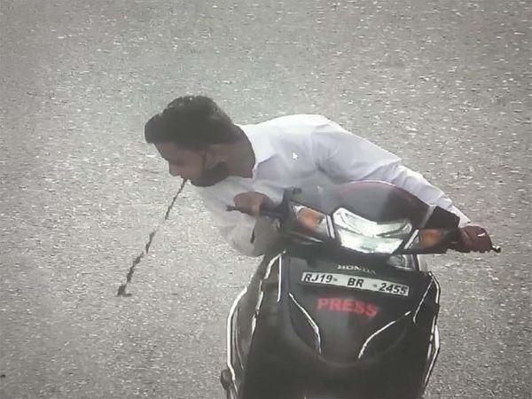कोरोना की रोकथाम के लिए अब सड़क पर बगैर मास्क लगाए घूमने और थूकने वालों पर कैमरों से रखी जा रही है नजर। - Dainik Bhaskar