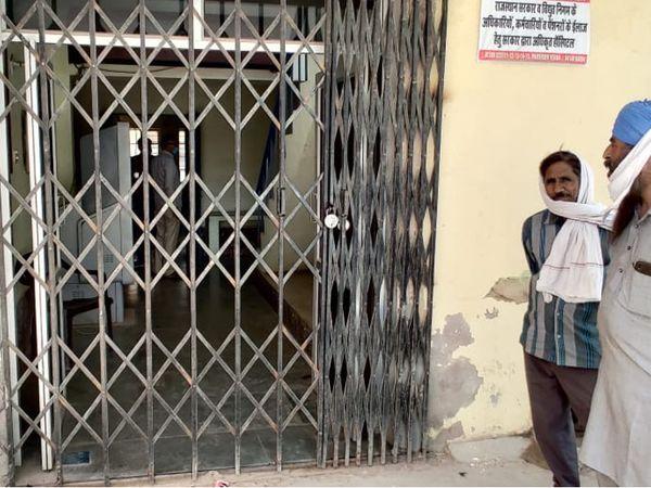 सूरतगढ़। किसानों ने मंडी समिति - Dainik Bhaskar
