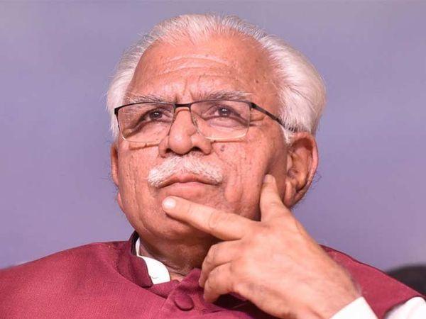 फाईल फोटो -मुख्यमंत्री मनोहर लाल - Dainik Bhaskar