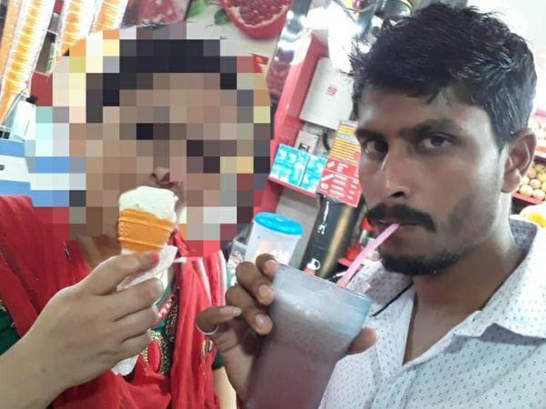 मोबाइल से राहुल की महिला के साथ मिली फोटो।