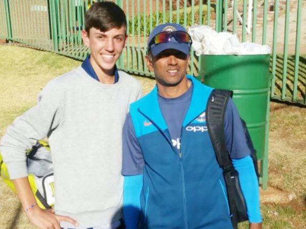 राहुल द्रविड़ के साथ मार्को जेंसन (बाएं)।