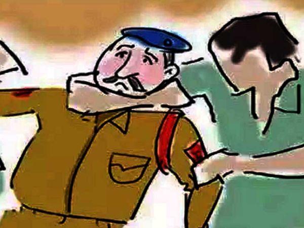 चौकी इंचार्ज ने जाने के लिए कहा तो किन्नरों ने उन पर हमला कर दिया। - Dainik Bhaskar