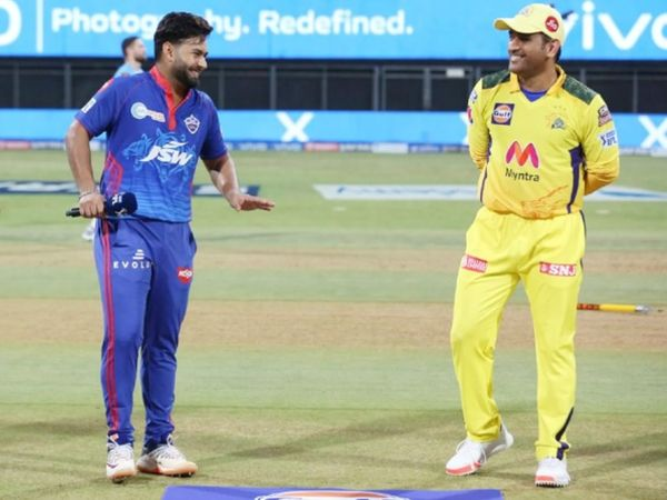 In the first match as captain, Rishabh Pant won the toss against Dhoni's team.