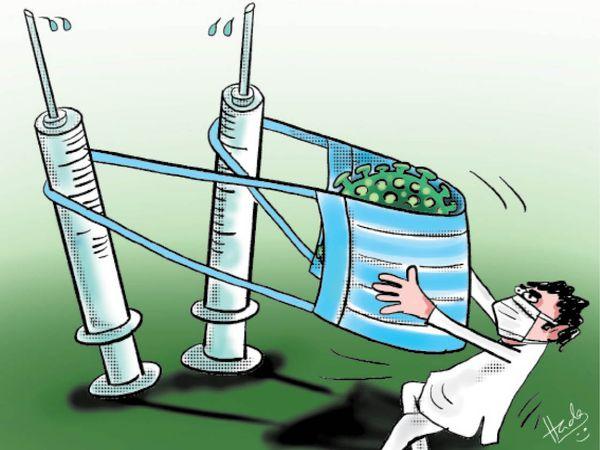 हमारी सजगता यही है...मास्क लगाएं और कोरोना वैक्सीन भी - Dainik Bhaskar