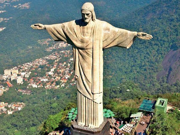 रियो स्थित 30 मीटर ऊंची क्राइस्ट द रिडीमर स्टेच्यू से 13 मीटर ऊंची होगी नई प्रतिमा।