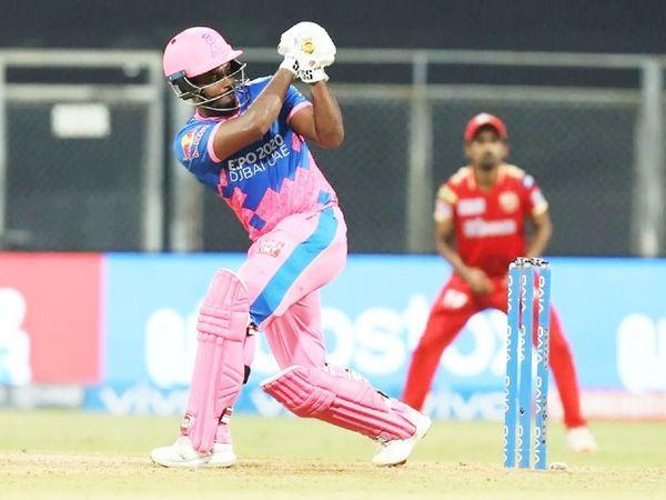 सैमसन ने 63 बॉल पर 119 रन की पारी खेली। इस दौरान 7 छक्के और 12 चौके जड़े। - Dainik Bhaskar