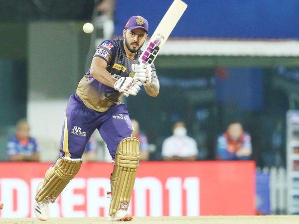 कोलकाता के लिए ओपनर नीतीश राणा ने 47 बॉल पर सबसे ज्यादा 57 रन की पारी खेली।