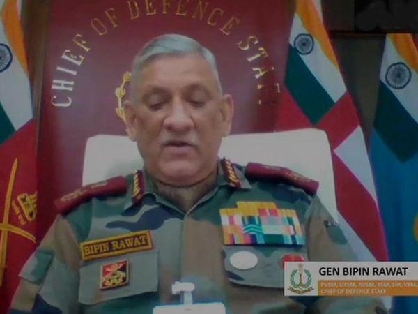 चीफ ऑफ डिफेंस स्टाफ जनरल बिपिन रावत के मुताबिक, भारत सरकार अफगानिस्तान के हालात पर करीबी नजर रख रही है। - Dainik Bhaskar
