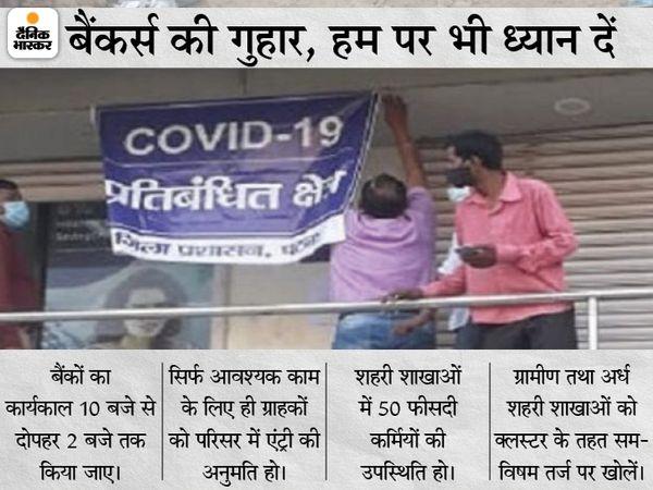 पटना के आशियानानगर में बंधन बैंक को 2 दिनों के लिए सील कर दिया गया है। - Dainik Bhaskar