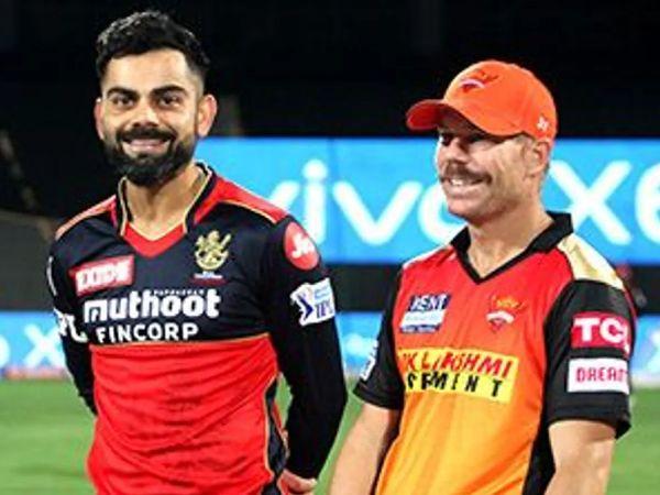 रॉयल चैलेंजर्स बेंगलुरु (RCB) ने IPL 2021 के छठे मैच में सनराइजर्स हैदराबाद को 6 रन से हराया। - Dainik Bhaskar