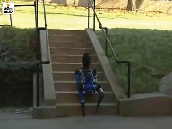 आर्टिफिशियल इंटेलिजेंस के बूते यह रोबोट डॉग बड़ी आसानी से सीढ़ियां चढ़ लेता है। यह तेजी से गणना करके अपने लिए सबसे बेहतरीन रास्ता चुन लेता है।