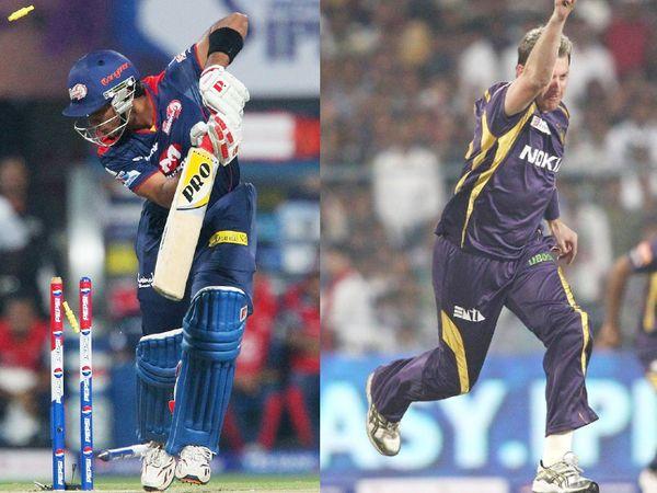2013 IPL में दिल्ली कैपिटल्स से खेल रहे उनमुक्त चंद को कोलकाता नाइट राइडर्स के ब्रेट ली ने मैच की पहली बॉल पर बोल्ड किया था।