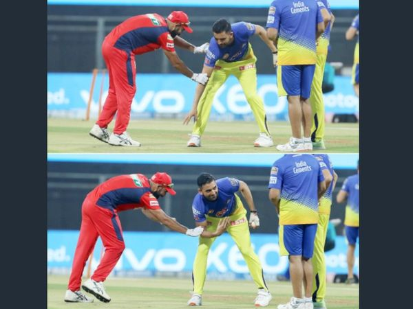 मैच से पहले दीपक ने पंजाब किंग्स के तेज गेंदबाज मोहम्मद शमी से आशिर्वाद लिया था।