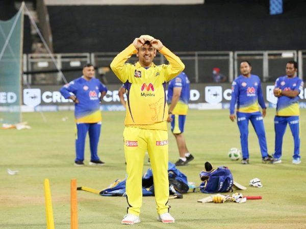 मैच से पहले धोनी इस अंदाज में दिखे। यह IPL में चेन्नई के लिए उनका 200वां मैच था।