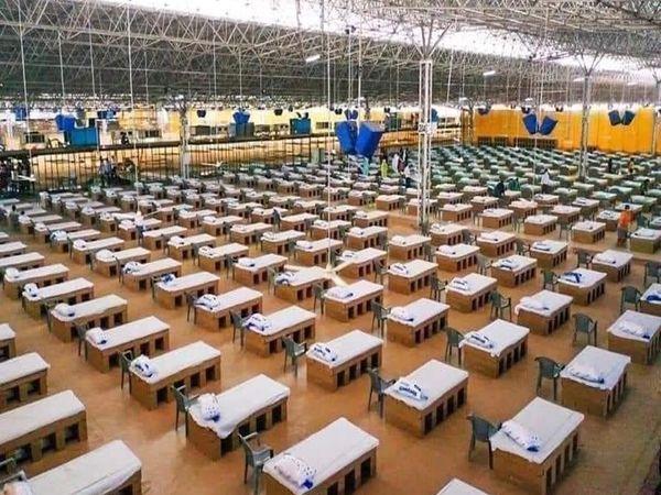 राधास्वामी सत्संग आश्रम में 500 बिस्तरों का बना अस्थाई कोविड केयर सेंटर। - Dainik Bhaskar
