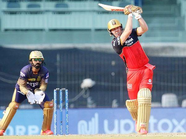 एबी डिविलियर्स ने 34 बॉल पर 76 रन बनाए। यह IPL में उनकी 39वीं फिफ्टी रही।