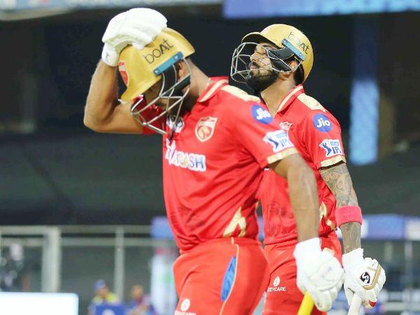 दूसरे मैच में टॉस हारकर पहले बल्लेबाजी करते हुए पंजाब किंग्स ने 4 विकेट पर 195 रन बनाए। लोकेश राहुल और मयंक अग्रवाल के बीच 122 रन की ओपनिंग पार्टनरशिप हुई।