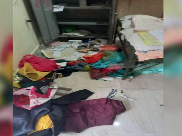 कारोबारी के घर चोरी के बाद बिख� - Dainik Bhaskar
