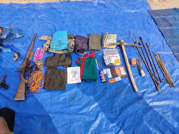 घटना स्थल से जवानों ने 9 एमएम पिस्टल, 1 देसी भरमार, 3 किलो की आईईडी, पिट्ठू, दवाई सहित अन्य सामान बरामद किया है।