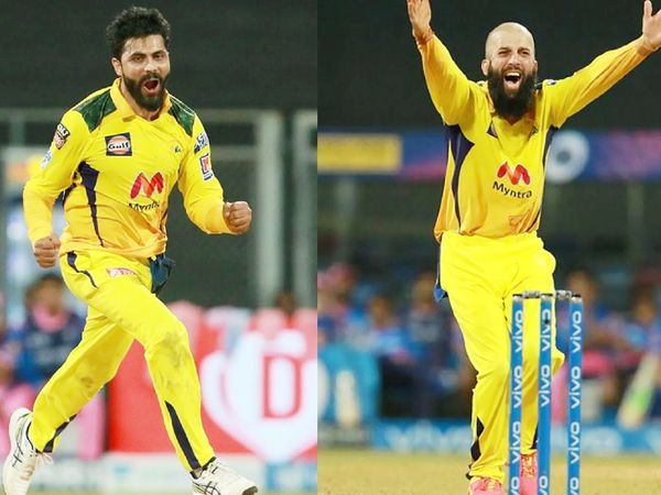 चेन्नई के ऑलराउंडर्स रविंद्र जडेजा और मोइन अली ने 4 ओवर के अंदर राजस्थान को 5 झटके दिए और मैच पलट दिया।