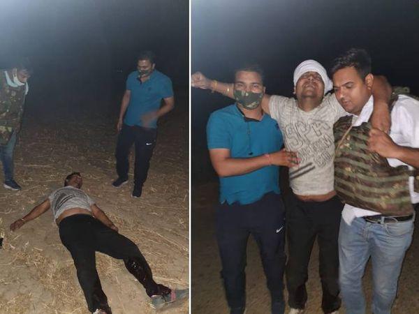 गोली लगने से घायल मुख्य आरोपी गौरव शर्मा।