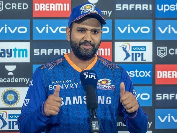 मुंबई इंडियंस ने 9 विकेट गंवाकर 137 रन बनाए। कप्तान रोहित ने 30 बॉल पर सबसे ज्यादा 44 रन की पारी खेली। उन्होंने 3 चौके और 3 छक्के जड़े। - Dainik Bhaskar