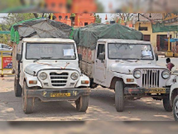 नपा को शवों को ले जाने के लिए निजी संस्थान की दो जीप मिली। - Dainik Bhaskar