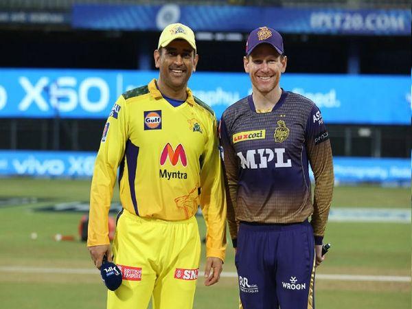 IPL 2021 के 15वें मैच में कोलकाता नाइट राइडर्स (KKR) को चेन्नई सुपर किंग्स (CSK) ने 18 रनों से शिकस्त दी। - Dainik Bhaskar