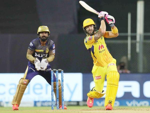 डुप्लेसिस ने 60 बॉल पर नाबाद 95 रन बनाए। यह IPL में उनकी 17वीं फिफ्टी रही।