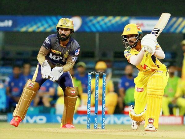 ऋतुराज ने 42 बॉल पर 64 रन की पारी खेली। यह IPL में उनकी चौथी फिफ्टी रही।