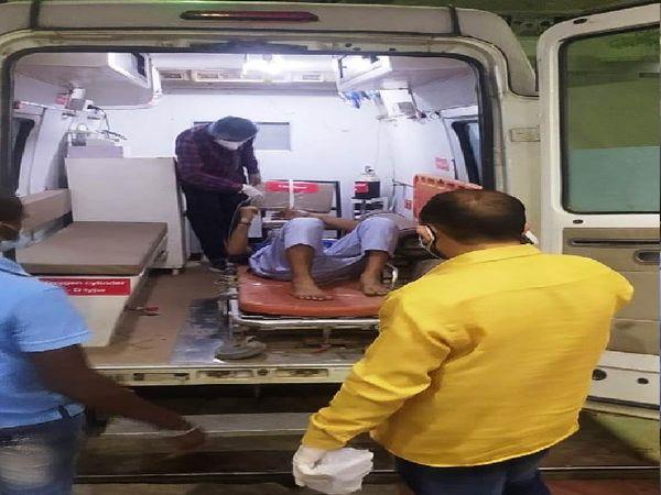 त्रिमूर्ति अस्पताल में रात को ऑक्सीजन खत्म होने पर मरीजों को BHU शिफ्ट किया गया। - Dainik Bhaskar