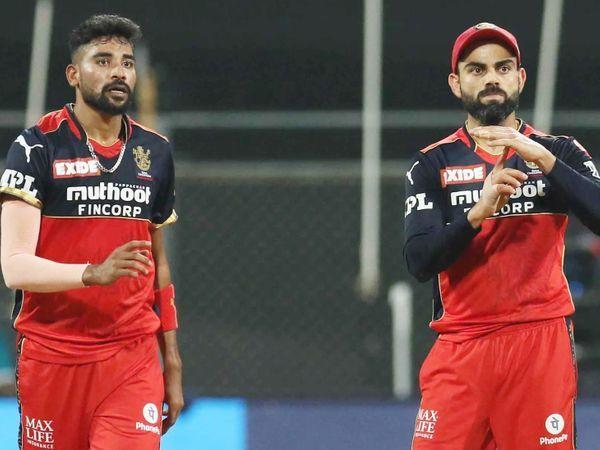 मोहम्मद सिराज ने 4 ओवर में 27 रन देकर तीन विकेट लिए। डेविड मिलर के खिलाफ DRS लेते RCB के कप्तान विराट कोहली।