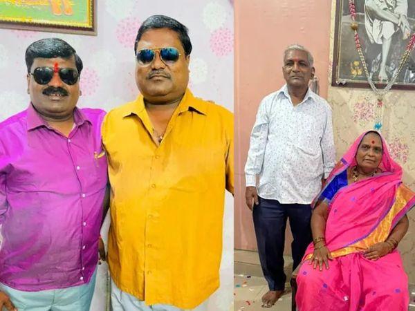 मृतकों में दो भाई (बाएं) और उनके माता-पिता शामिल हैं। - Dainik Bhaskar