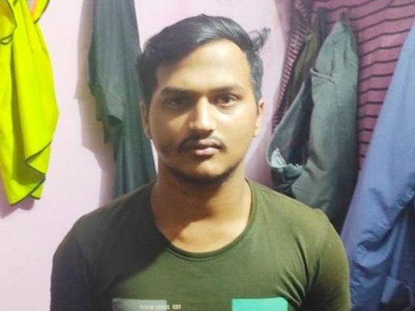 आरोपी युवक, जिसने बच्चे के साथ कुकर्म करने का प्रयास किया। - Dainik Bhaskar
