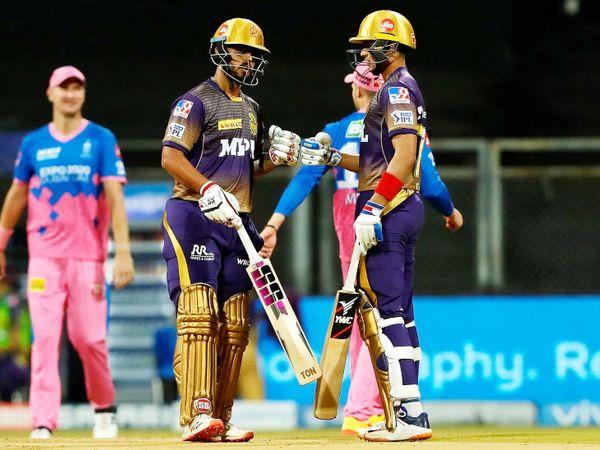 नीतीश राणा और शुभमन की जोड़ी लगातार तीसरे मैच में टीम को अच्छी शुरुआत देने में कामयाब नहीं हो पाई। इस मैच में दोनों के बीच 24 रन की ओपनिंग पार्टनरशिप हुई।